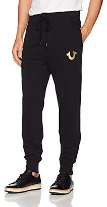 True Religion Men's Metallic Buddha Fleece Runner Pant1