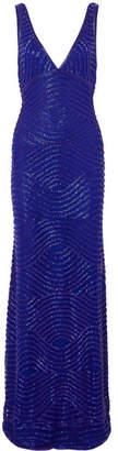 Naeem Khan Embellished Tulle Gown - Blue