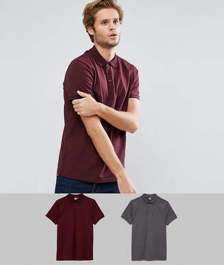 Asos DESIGN short sleeve polo in jersey 2 pack SAVE