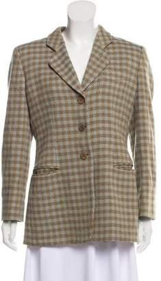 Giorgio Armani Checkered Wool Blazer