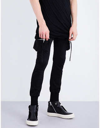Rick Owens Cargo cotton-jersey jogging bottoms
