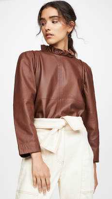 Sea Lidia Leather Top