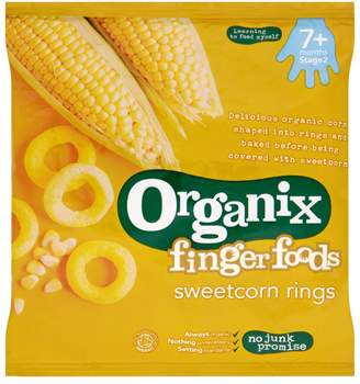 Organix Finger Foods Sweetcorn Rings 7+ Months Stage 2 20g