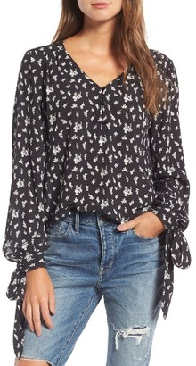 Women's Hinge Tie Sleeve Top $79 thestylecure.com