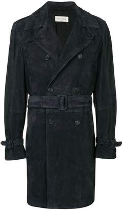 Al Duca D'Aosta 1902 suede trench coat