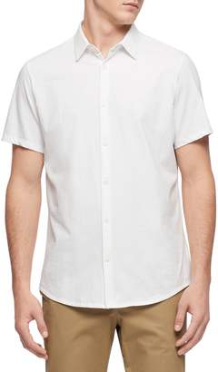 Calvin Klein Regular-Fit Short-Sleeve Button-Down Shirt