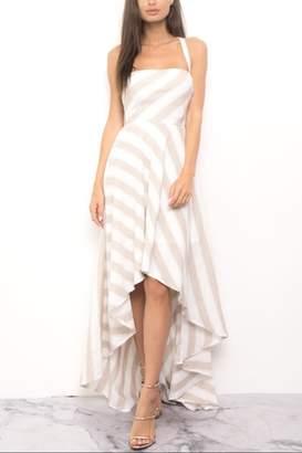 Blithe High-Low Stripe Dress