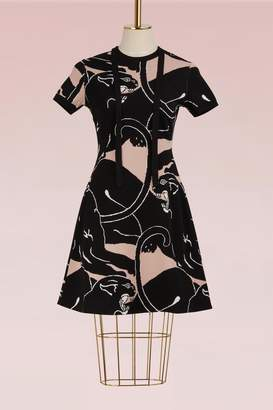Valentino Panther Short-Sleeve Dress