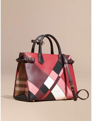 Burberry The Medium Banner in Colour Block Leather