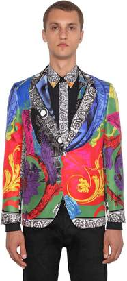 Versace Printed Silk Jacket