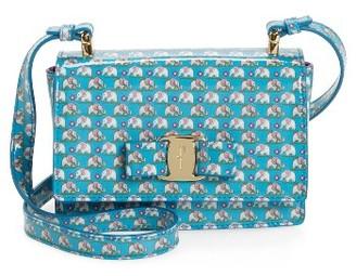Girl's Salvatore Ferragamo Mini Vara Ginny Shoulder Bag - Blue $550 thestylecure.com