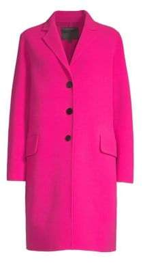 Marc Jacobs Wool Notched Collar Coat