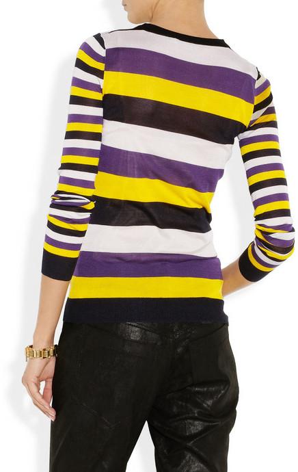 Jason Wu Striped fine-knit silk sweater