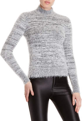 philosophy Mock Neck Fuzzy Sweater