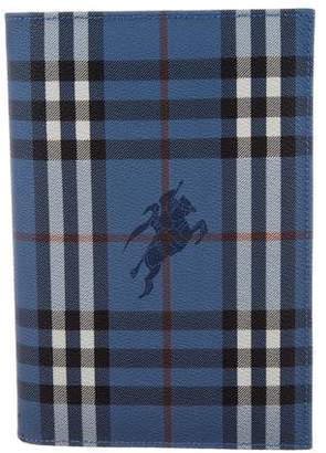 Burberry Haymarket Check Agenda Cover w/ Tags