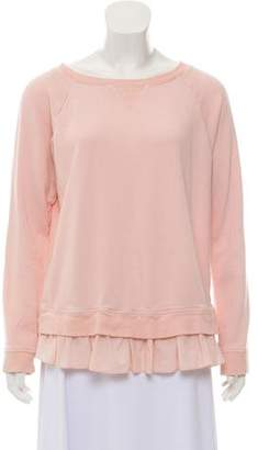 DKNY Heavy Knit Scoop Neck Sweatshirt