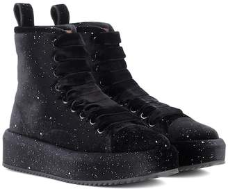 Marco De Vincenzo Velvet high-top sneakers