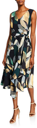 Lafayette 148 New York Telson Abstract Print Dress