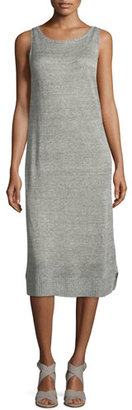 Eileen Fisher Fisher Project Rustic Organic Linen Calf-Length Dress $338 thestylecure.com