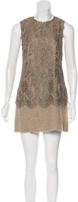 Dolce & Gabbana Lace Sleeveless Mini Dress