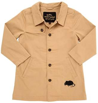 Mini Rodini Organic Cotton Gabardine Trench Coat
