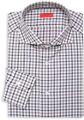 Isaia Slim-Fit Checker Sportshirt