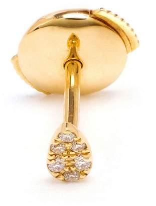 Leon Yvonne 18kt gold and pavé diamond stud earring
