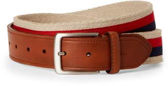 Tommy Hilfiger Khaki Woven Stripe Belt