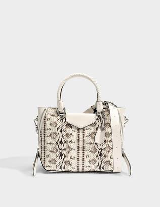 03385e32254be MICHAEL Michael Kors Blakely Medium Messenger Bag in Natural and Light  Cream Marked Embossed Snake