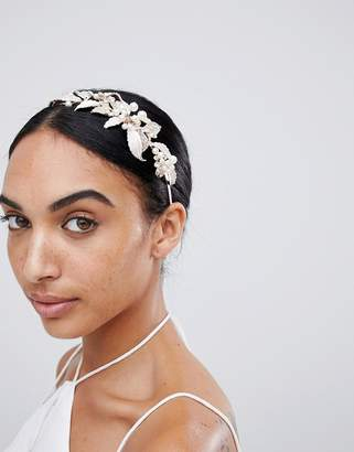 Love Rocks LoveRocks London Rose Gold Leaf & Pearl Hairband