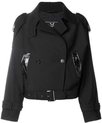 Unconditional cropped double breasted jacket