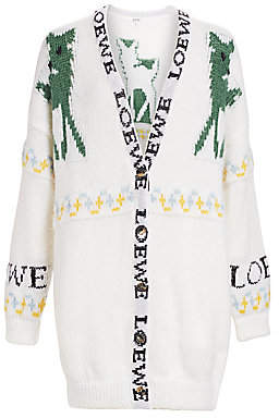 Loewe Women's Deer Oversized Mohair-Blend Cardigan