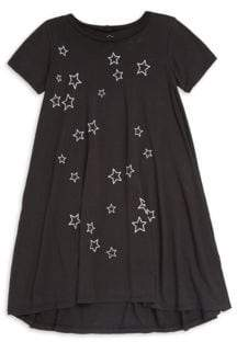 Lauren Moshi Little Girl's& Girl's Beauty Stars Night Short-Sleeve Swing Dress