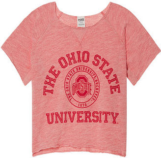Victorias Secret The Ohio State University Cropped Crew $49.95 thestylecure.com