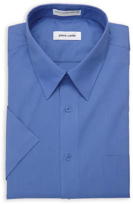 Pierre Cardin Short Sleeve Ocean Blue Dress Shirt