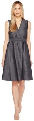 Ellen Tracy Belted Fold Dress Women's Dress