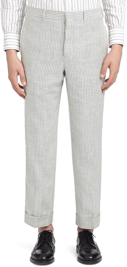 Brooks Brothers White With Blue Stripes Trousers