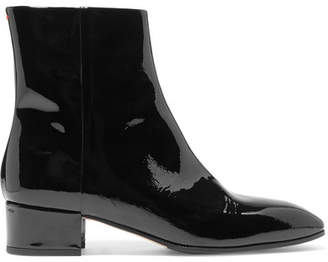 aeydē - Naomi Patent-leather Ankle Boots - Black