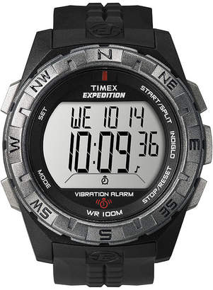Timex Expedition Mens Black Resin Strap Vibration Alarm Watch T498519J