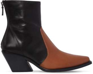Givenchy 70mm Two Tone Leather Cowboy Boots