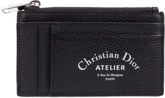 Christian Dior Logo Embossed Card Holder
