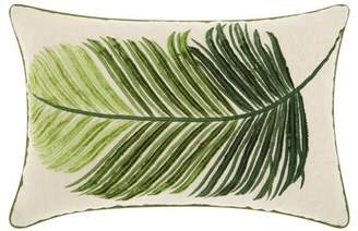 Nourison Royal Palm Palm Leaf Green Throw Pillow