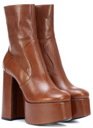 Saint Laurent Billy 140 leather ankle boots