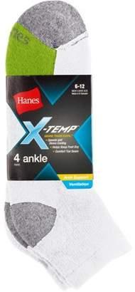 Hanes Men's X-Temp Ankle Socks 4-Pack