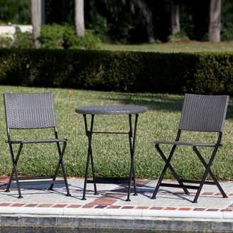 Patio Sense Acosta Outdoor Bistro Table & Chair 3-piece Set