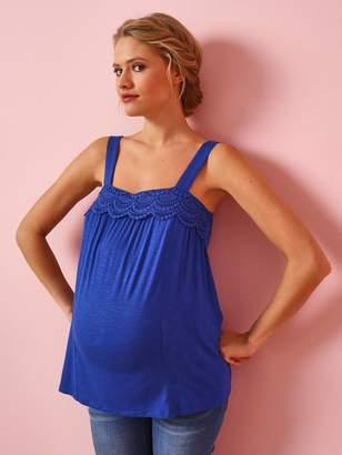 cac4b39c1e6e5 Vertbaudet Maternity Vest Top, Viscose & Macrame