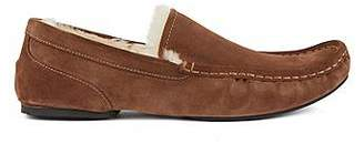 HUGO BOSS Slip-on moccasins in suede with a rubber sole