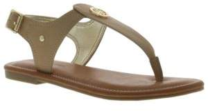 Tommy Hilfiger Faux-Leather Thong Sandals