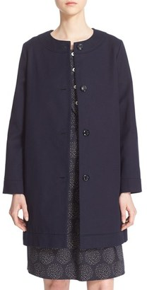 Women's A.p.c. 'Hillary' Water Resistant Cotton Coat $485 thestylecure.com
