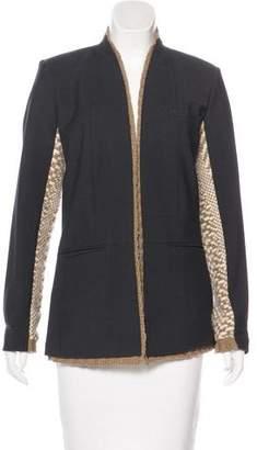 Yigal Azrouel Virgin Wool Alpaca-Trimmed Jacket